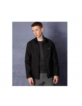 Veste Fred perry Laurel Wreath Cape sleeve Harrington noir
