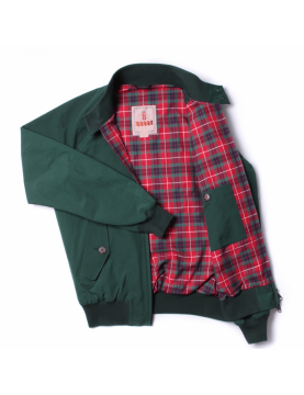 Blouson BARACUTA G9 harrington steve mcqueen racing Green 6368
