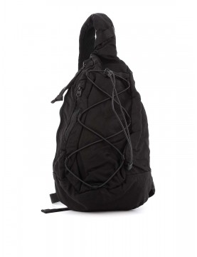 Sac C.P Company back pack nylon satin black 08CMAC038A-005269G-999