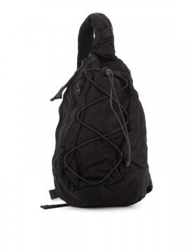 Sac C.P Company back pack nylon satin black 08CMAC038A-005269G-999