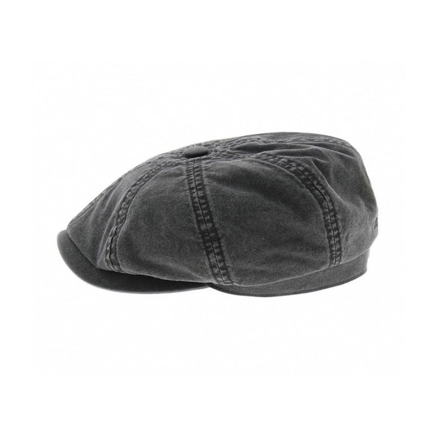 Casquette Stetson hatteras coton délavé organique black 6841106-1