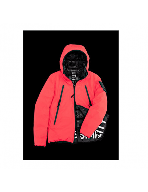 Blouson Outhere reflective pigment rouge
