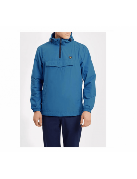 Blouson Lyle and Scott Classic casual style cagoule à capuche et poche Lake Blue JK606V-Lake Blue