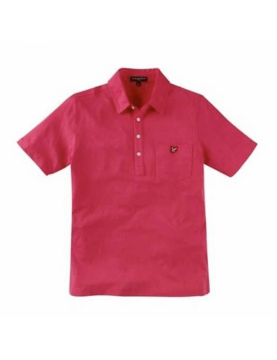 Polo Lyle and Scott Vintage à poche jersey rose