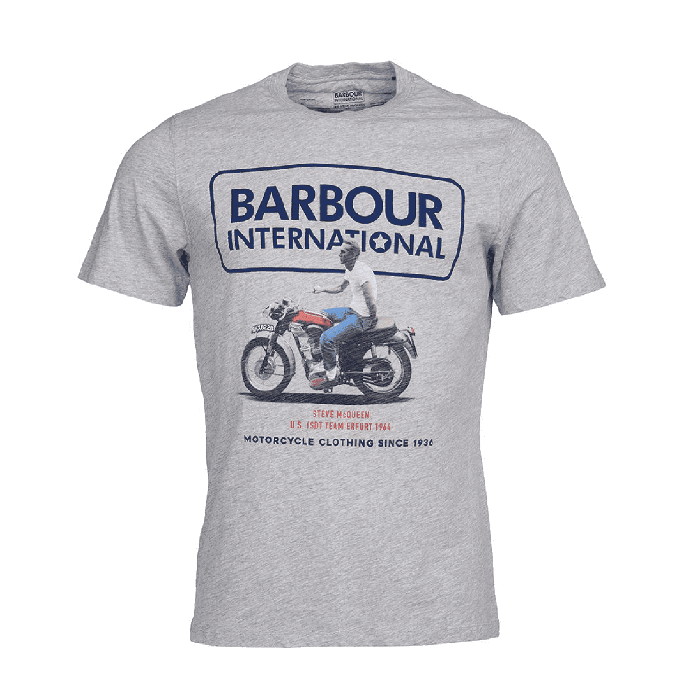 Tee shirt Barbour Steve Mcqueen Relaxed tee gris MTS0695-GY5