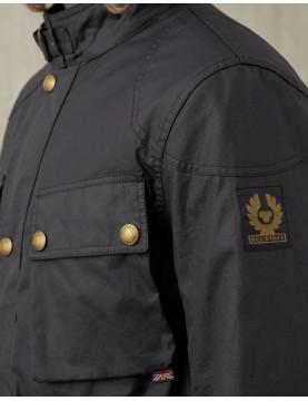 Veste Belstaff Fieldmaster coton ciré Dark Navy  71050524-80010 épaule