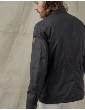 Veste Belstaff Fieldmaster coton ciré Dark Navy  71050524-80010 de coté