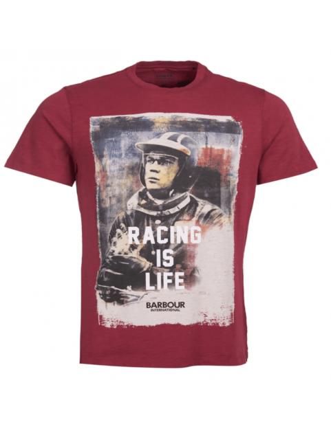 Tee shirt Barbour Steve Mcqueen Racing is life cordova