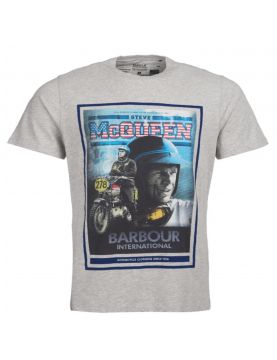 Tee shirt Barbour Steve Mcqueen Boon grey marl