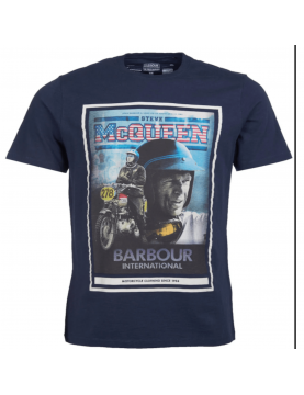 Tee shirt Barbour Steve mcqueen Boon navy