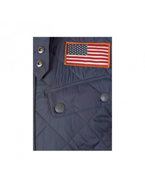 Veste Barbour Steve McQueen Jeffries navy MQU0370-NY91 flag