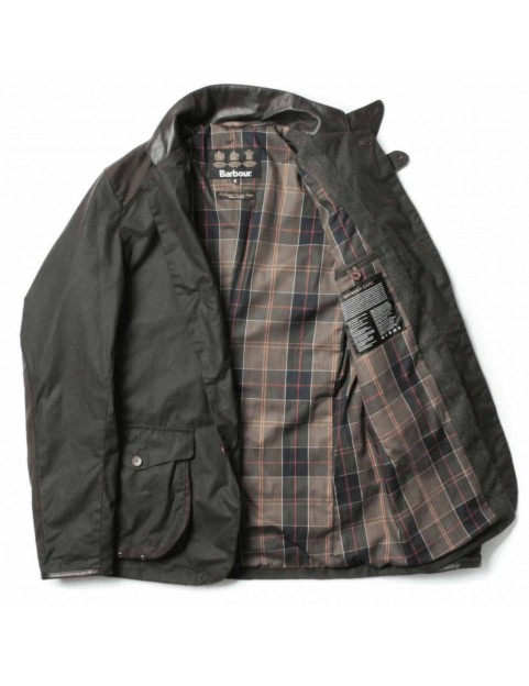 "Veste Barbour Beacon Sport  olive ""James Bond Skyfall "" MWX0007-OL71 ouvert"