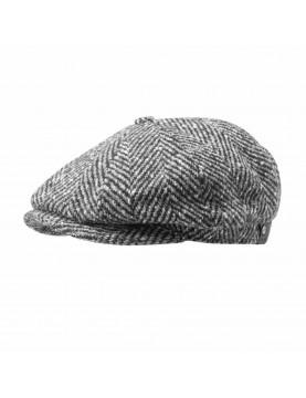 Casquette Stetson herringbone laine chevron grise 6840502-333