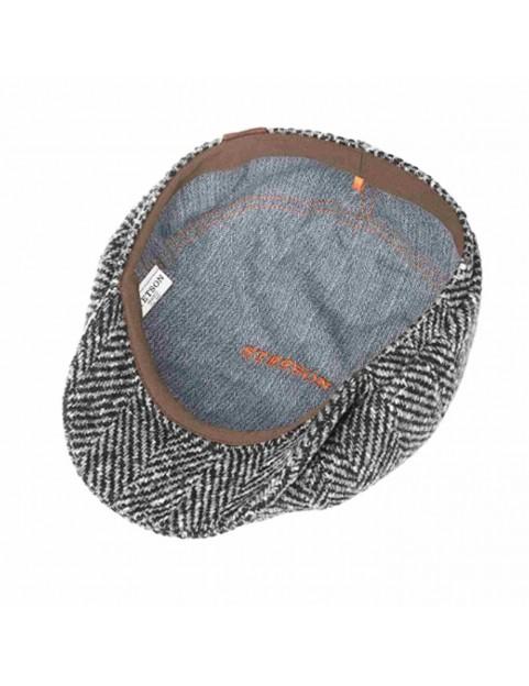 Casquette Stetson herringbone laine chevron grise 6840502-333 interieur