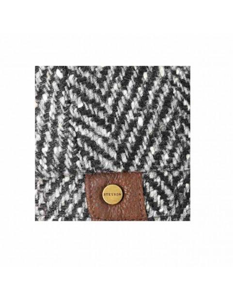 Casquette Stetson herringbone laine chevron grise 6840502-333 detail
