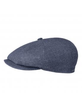 Casquette Stetson hatteras laine et lin bleu 6840103-23