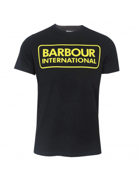 Tee shirt Barbour International large logo black  MTS0369-BK91