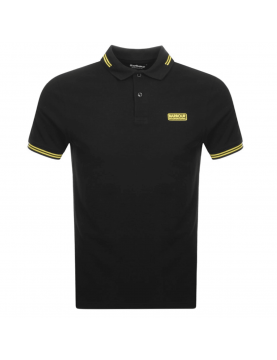 Polo Barbour International tipped logo black MML0975-BK91