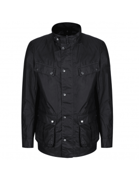 Veste Barbour International Duke Light Weight 4oz wax black face
