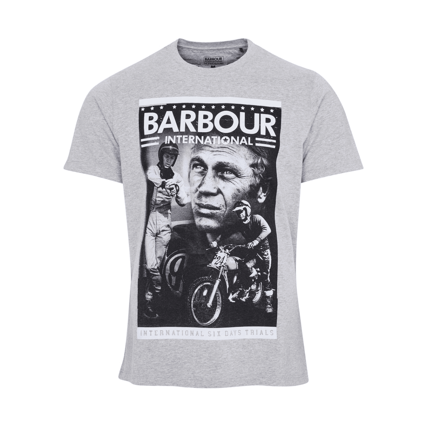 Tee shirt Barbour Streve McQueen Combo gris MTS0811-GY52