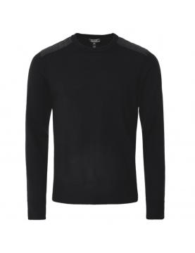 Pull Belstaff Kerrigan col rond laine merino black 71130284-9000