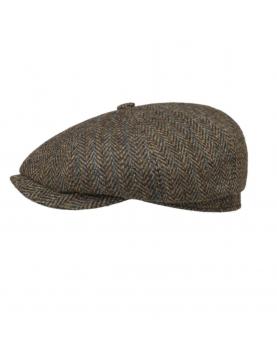 Casquette Stetson hatteras Harris tweed marron 6840527-367