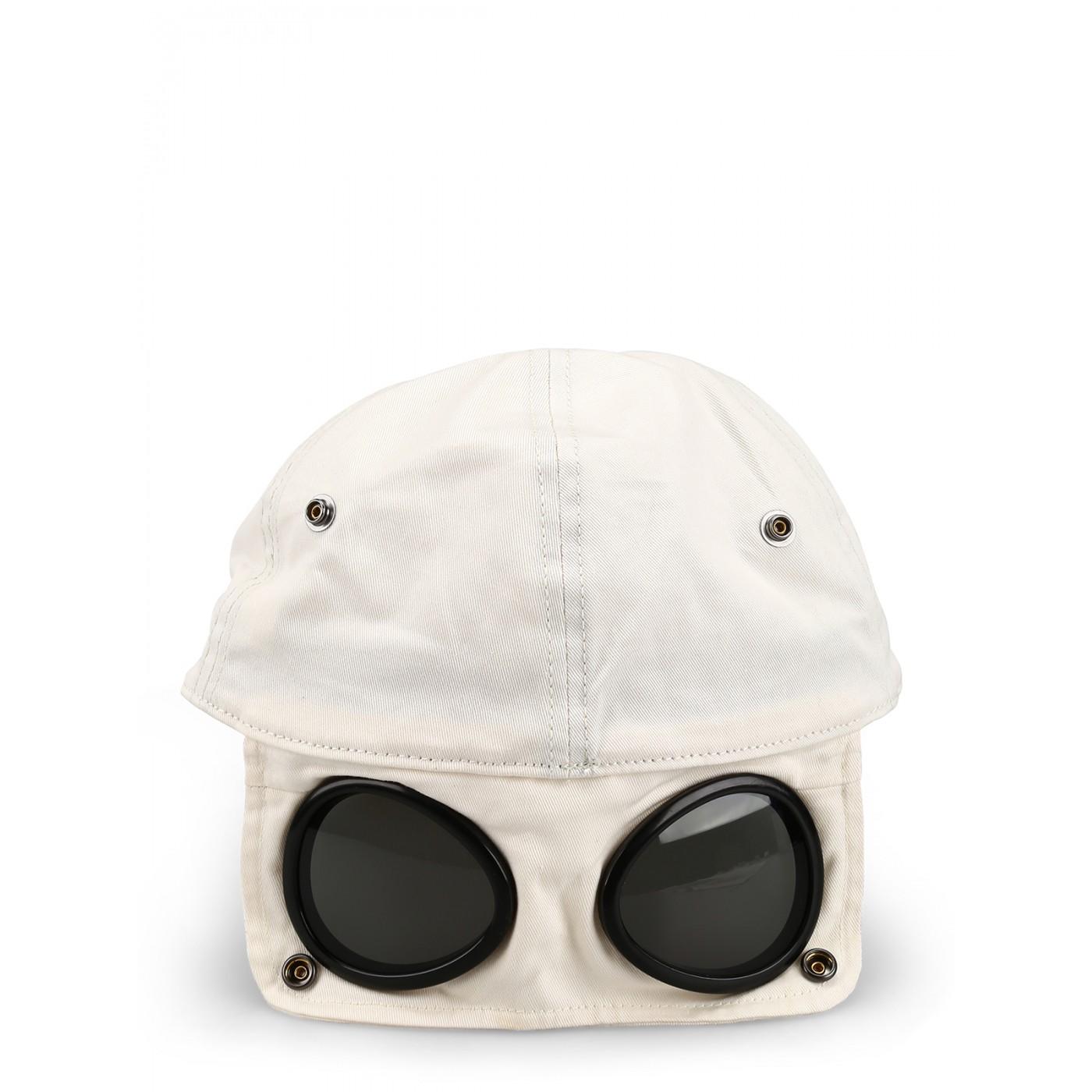 Casquette CP Company goggle gauze white