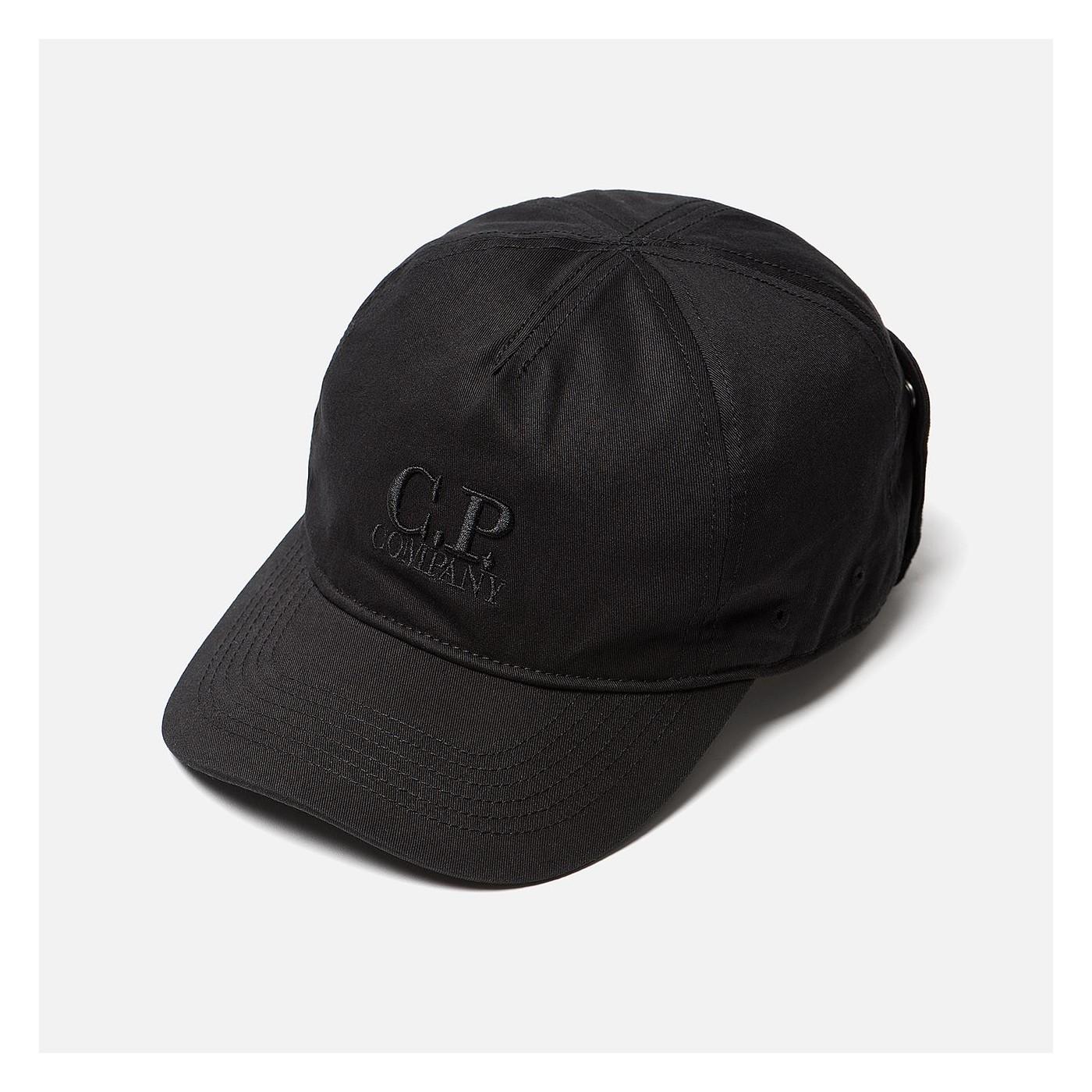 Casquette CP Company goggle black