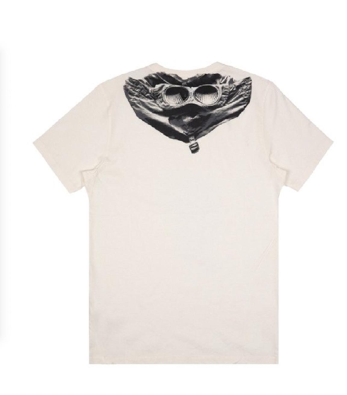 Tee shirt CP Company goggle gauze white