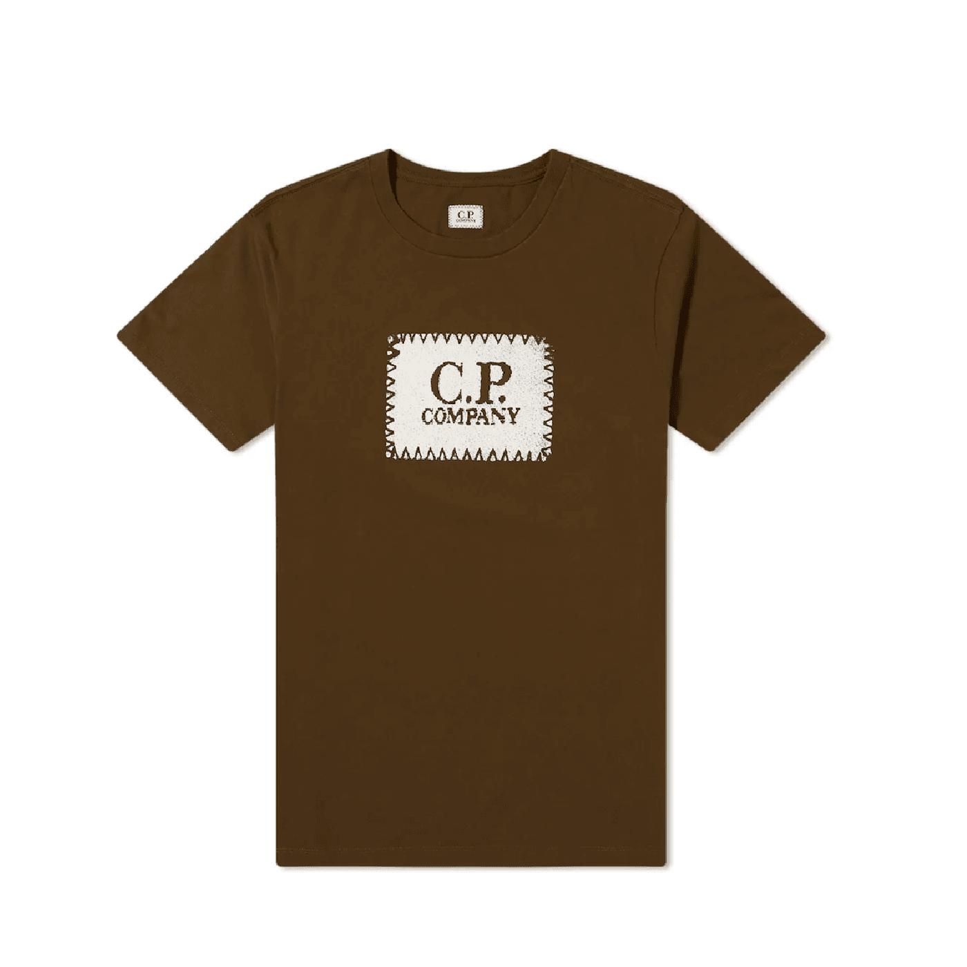 Tee shirt CP Company logo olive