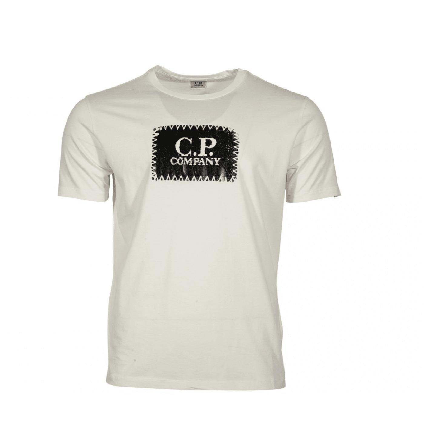 Tee shirt CP Company logo blanc