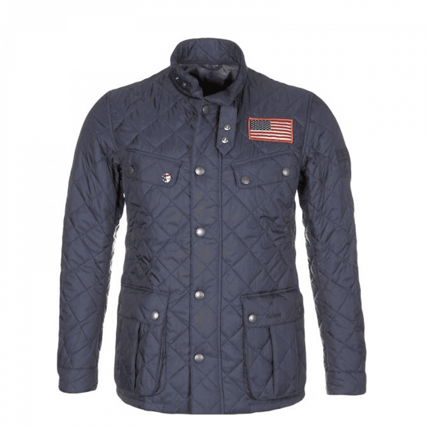 Veste Barbour Quilt Steve McQueen Jeffries navy