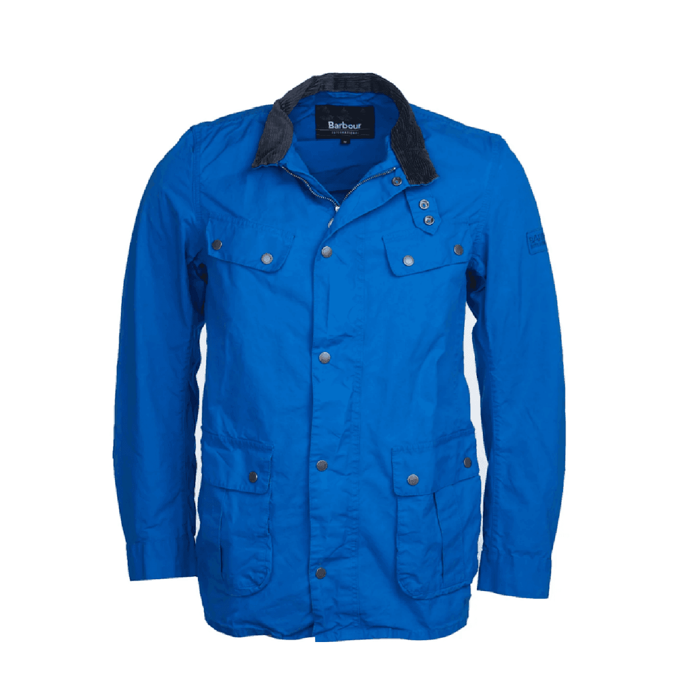 veste Barbour Duke washed coton azur