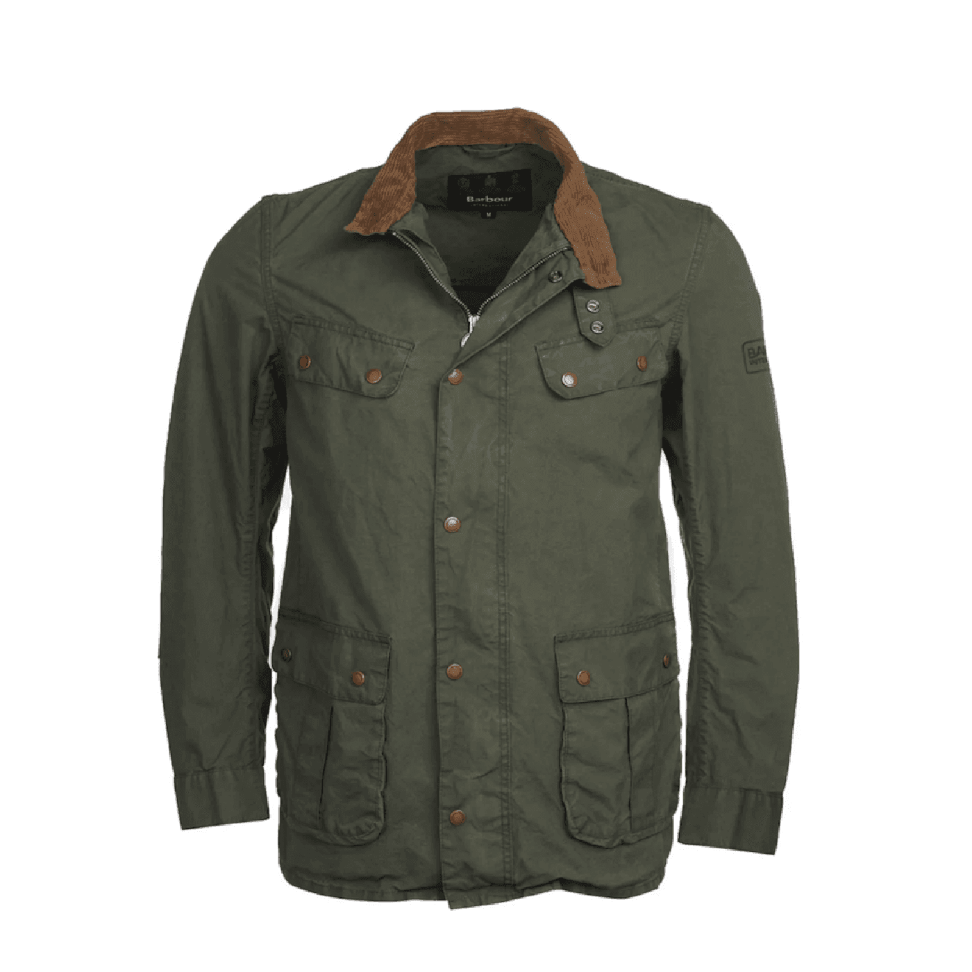 Veste barbour washed coton olive