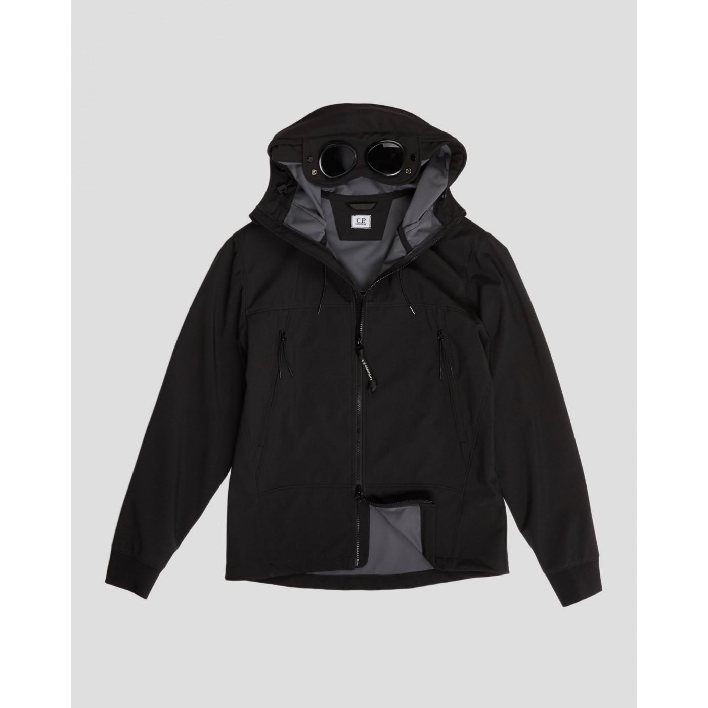 veste CP Company Cp Shell capuche goggle noir